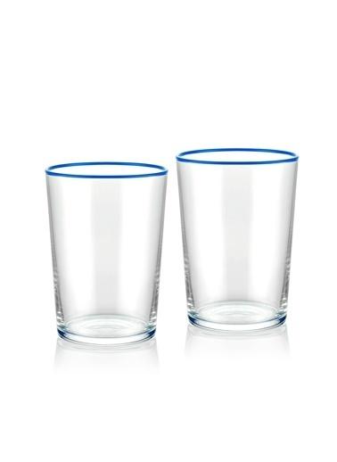 The Mia Su Bardağı 2 Li Set 500 cc Mavi Mavi